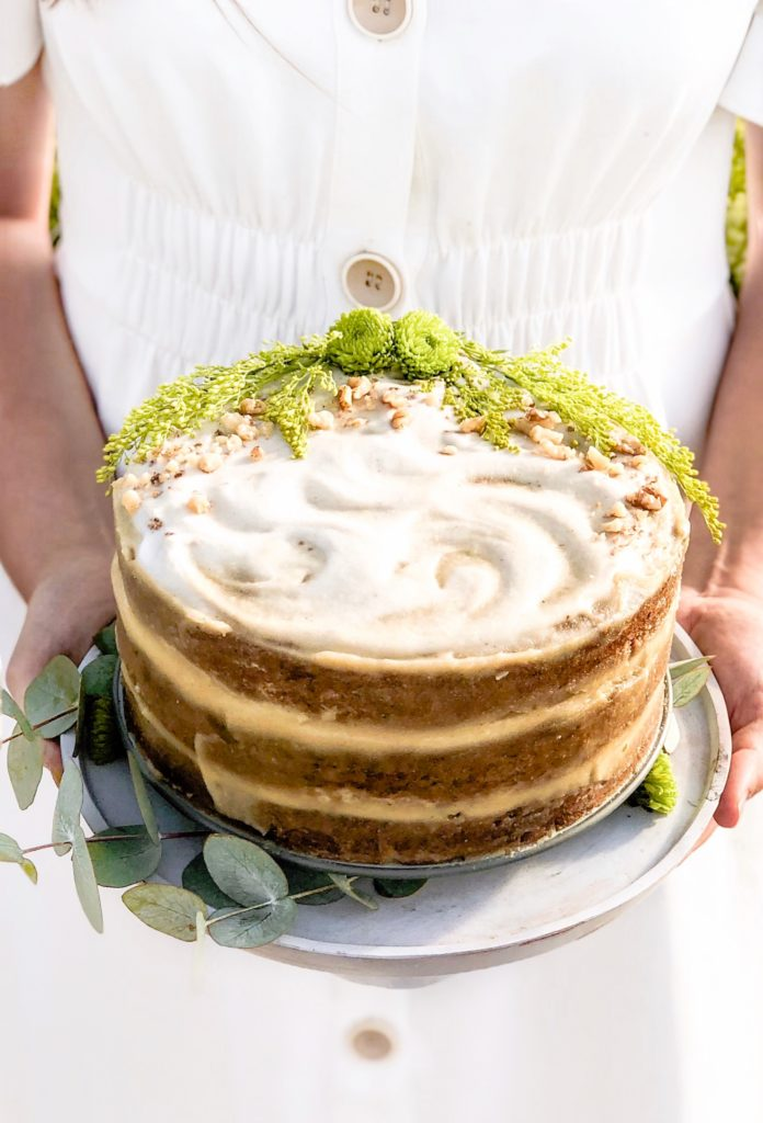 Gluten-free-Vegan-Carrot-Cake-with-Cashew-and-Passion-Fruit-Frosting