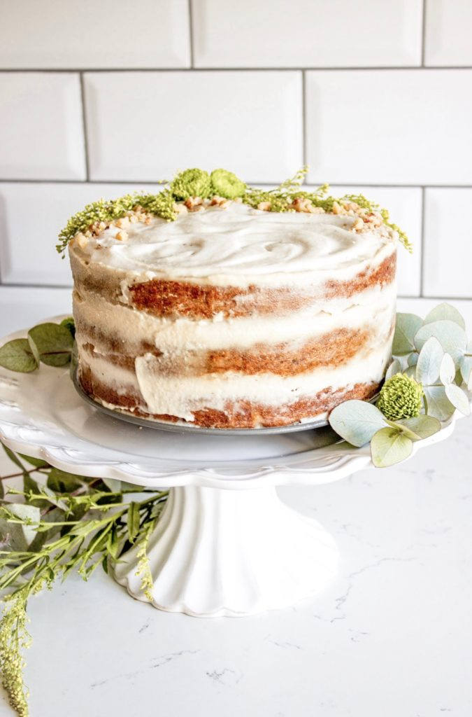 vegan, gluten-free tropical carrot cake